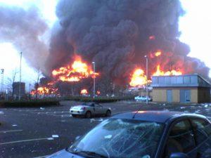 Buncefield explosion contamination