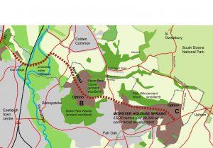 Eastleigh planned housing development