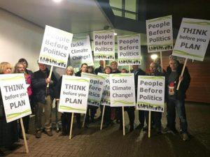 Eastleigh development protestors
