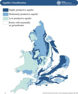 groundwater resource location map British Geological Society
