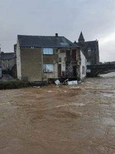 hotel collapse river teviot flooding