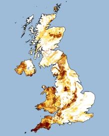 UK radon map