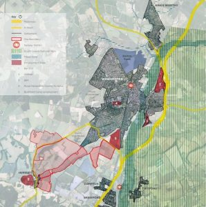 Winchester Council planning development map hursley